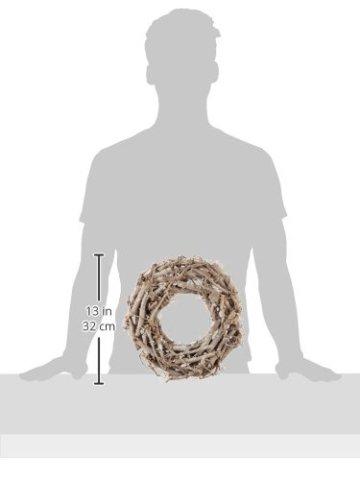 Rayher Hobby 65013000 Weidenkranz, weiß gewischt, 30 cm ø, Höhe 8 cm, Adventskranz, Türkranz, Naturkranz, Weidenring, Kranz aus Weide - 3