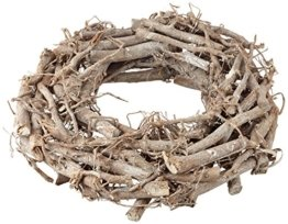 Rayher Hobby 65013000 Weidenkranz, weiß gewischt, 30 cm ø, Höhe 8 cm, Adventskranz, Türkranz, Naturkranz, Weidenring, Kranz aus Weide - 1