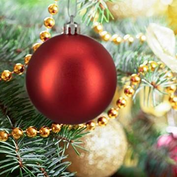 Relaxdays Weihnachtskugeln, 100er Set, Weihnachtsdeko, matt, glänzend, glitzernd, Christbaumkugel ∅ 3,4 & 6 cm, rot, PS, 7 x 6 x 6 cm - 4