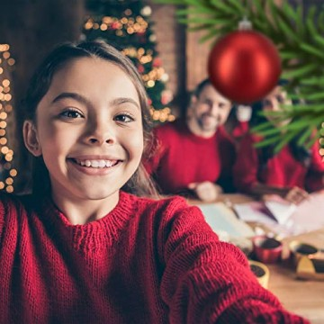 Relaxdays Weihnachtskugeln, 100er Set, Weihnachtsdeko, matt, glänzend, glitzernd, Christbaumkugel ∅ 3,4 & 6 cm, rot, PS, 7 x 6 x 6 cm - 5