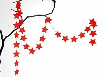 renna deluxe Stern Girlande Sterne Papiergirlande Weiß Dekoration Hochzeit Geburtstag Weihnachten - 3