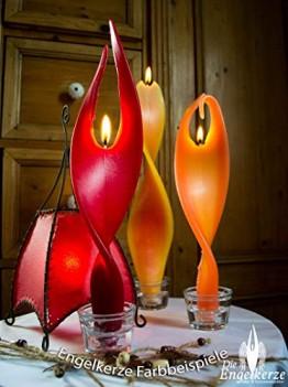 Rote Kerze Engelslicht handgemacht. Weihnachtsgeschenk oder Weihnachtsdeko auch als schöne Tischdeko. Werden Sie von dieser edlen Dekoration verzaubert - 1