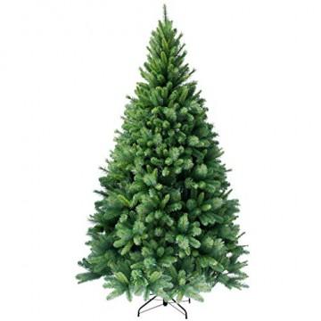 RS Trade HXT 1101 künstlicher Weihnachtsbaum 120 cm (Ø ca. 76 cm) mit 446 Spitzen und Schnellaufbau Klapp-Schirmsystem, schwer entflammbar, unechter Tannenbaum inkl. Metall Christbaum Ständer - 1