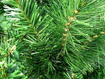 RS Trade HXT 1101 künstlicher Weihnachtsbaum 180 cm (Ø ca. 106 cm) mit 824 Spitzen und Schnellaufbau Klapp-Schirmsystem, schwer entflammbar, unechter Tannenbaum inkl. Metall Christbaum Ständer - 3