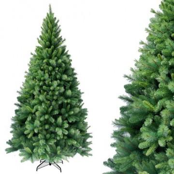 RS Trade HXT 1101 künstlicher Weihnachtsbaum 180 cm (Ø ca. 106 cm) mit 824 Spitzen und Schnellaufbau Klapp-Schirmsystem, schwer entflammbar, unechter Tannenbaum inkl. Metall Christbaum Ständer - 4