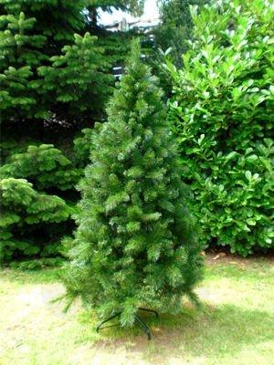 RS Trade HXT 1101 künstlicher Weihnachtsbaum 180 cm (Ø ca. 106 cm) mit 824 Spitzen und Schnellaufbau Klapp-Schirmsystem, schwer entflammbar, unechter Tannenbaum inkl. Metall Christbaum Ständer - 5