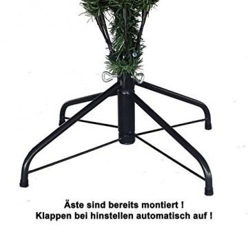 RS Trade HXT 1101 künstlicher Weihnachtsbaum 180 cm (Ø ca. 106 cm) mit 824 Spitzen und Schnellaufbau Klapp-Schirmsystem, schwer entflammbar, unechter Tannenbaum inkl. Metall Christbaum Ständer - 7