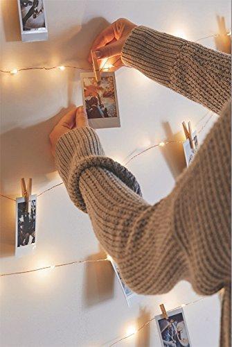 Salcar LED Lichterkette 10 Meter/33Ft 100 Dioden Innen Außen Micro Kupfer Draht für Weihnachten Deko Party Festen, wasserdicht, USB-Anschluss (Warmweiß) - 3