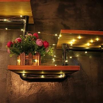 Salcar LED Lichterkette 10 Meter/33Ft 100 Dioden Innen Außen Micro Kupfer Draht für Weihnachten Deko Party Festen, wasserdicht, USB-Anschluss (Warmweiß) - 5