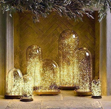 Salcar LED Lichterkette 10 Meter/33Ft 100 Dioden Innen Außen Micro Kupfer Draht für Weihnachten Deko Party Festen, wasserdicht, USB-Anschluss (Warmweiß) - 6