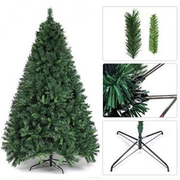 SALCAR Weihnachtsbaum künstlich 210 cm mit 868 Spitzen, Tannenbaum künstlich regenschirmsystem inkl. Christbaum-Ständer, Weihnachtsdeko - grün 2,1 m - 2