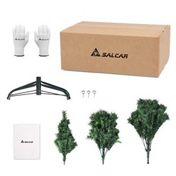 SALCAR Weihnachtsbaum künstlich 210 cm mit 868 Spitzen, Tannenbaum künstlich regenschirmsystem inkl. Christbaum-Ständer, Weihnachtsdeko - grün 2,1 m - 5