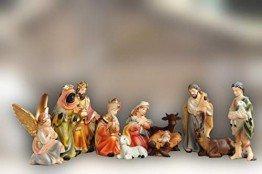 Sehr große PREMIUM Krippenfiguren 12 -tlg. SET, 15 cm schwere hochwertige Ausführung, feine Mimik, HANDBEMALT - FIGUREN für große Holz Weihnachtskrippe Zubehör, Design XXL Maria Josef Jesus - 1