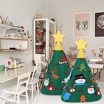 Sliveal Fühlte Weihnachtsbaum dreidimensionale runde Weihnachtsbaum DIY Vlies Weihnachtsbaum Christbaumschmuck - 3