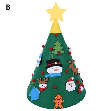 Sliveal Fühlte Weihnachtsbaum dreidimensionale runde Weihnachtsbaum DIY Vlies Weihnachtsbaum Christbaumschmuck - 1