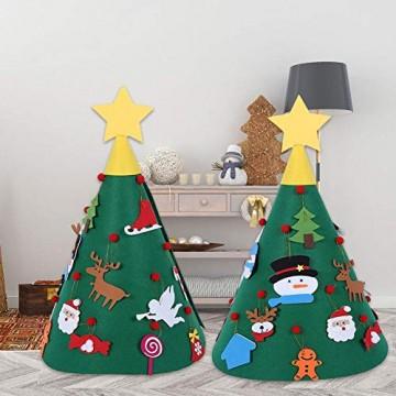 Sliveal Fühlte Weihnachtsbaum dreidimensionale runde Weihnachtsbaum DIY Vlies Weihnachtsbaum Christbaumschmuck - 6