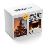 SnowEra 400er LED Galaxy Lichterkette / Weihnachtslichterkette für innen & außen mit Timer und Dimmfunktion – Lichtfarbe: Amber / Bernstein – Form: Cluster Lichterkette - 1