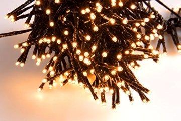 SnowEra 400er LED Galaxy Lichterkette / Weihnachtslichterkette für innen & außen mit Timer und Dimmfunktion – Lichtfarbe: Amber / Bernstein – Form: Cluster Lichterkette - 3