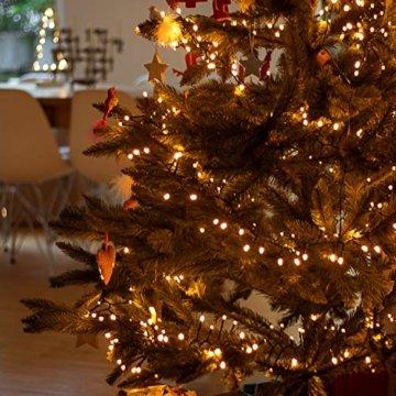SnowEra 400er LED Galaxy Lichterkette / Weihnachtslichterkette für innen & außen mit Timer und Dimmfunktion – Lichtfarbe: Amber / Bernstein – Form: Cluster Lichterkette - 4