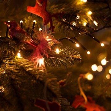SnowEra 400er LED Galaxy Lichterkette / Weihnachtslichterkette für innen & außen mit Timer und Dimmfunktion – Lichtfarbe: Amber / Bernstein – Form: Cluster Lichterkette - 8