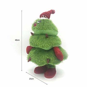 Somedays Weihnachtsschmuck Xmastree Battery Operated Dancing Xmas Tree | Singen Tanzen Glühend Elektrische Plüsch Weihnachtsbaum Puppe | Weihnachtsbaumschmuck 40cm - 3