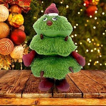 Somedays Weihnachtsschmuck Xmastree Battery Operated Dancing Xmas Tree | Singen Tanzen Glühend Elektrische Plüsch Weihnachtsbaum Puppe | Weihnachtsbaumschmuck 40cm - 4