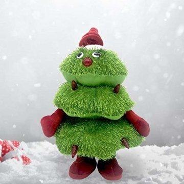 Somedays Weihnachtsschmuck Xmastree Battery Operated Dancing Xmas Tree   Singen Tanzen Glühend Elektrische Plüsch Weihnachtsbaum Puppe   Weihnachtsbaumschmuck 40cm - 1