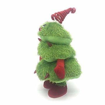 Somedays Weihnachtsschmuck Xmastree Battery Operated Dancing Xmas Tree | Singen Tanzen Glühend Elektrische Plüsch Weihnachtsbaum Puppe | Weihnachtsbaumschmuck 40cm - 5