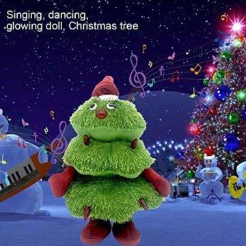 Somedays Weihnachtsschmuck Xmastree Battery Operated Dancing Xmas Tree | Singen Tanzen Glühend Elektrische Plüsch Weihnachtsbaum Puppe | Weihnachtsbaumschmuck 40cm - 6