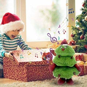 Somedays Weihnachtsschmuck Xmastree Battery Operated Dancing Xmas Tree | Singen Tanzen Glühend Elektrische Plüsch Weihnachtsbaum Puppe | Weihnachtsbaumschmuck 40cm - 7