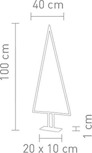 Sompex Designleuchte/LED Weihnachtsbaum Stehleuchte Pine, Aluminium/Silber, Höhe 100cm - 2