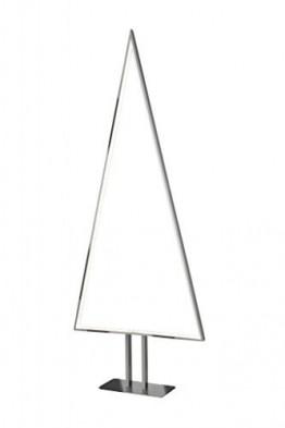 Sompex Designleuchte/LED Weihnachtsbaum Stehleuchte Pine, Aluminium/Silber, Höhe 100cm - 1