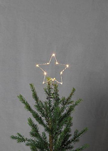 Star Baumspitze Topsy, 10 warmwhite LED, Metall, silber, 1.4 x 2 x 0.55 cm - 2