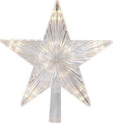Star Baumspitze Topsy, 10 warmwhite LED, Plastik, silber, 2.2 x 2.4 x 0.5 cm - 1