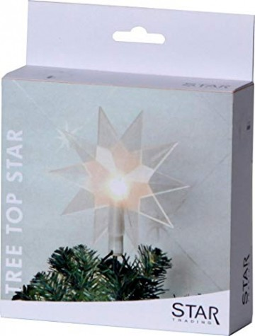 Star Baumspitze Topsy, 10 warmwhite LED, Plastik, silber, 2.2 x 2.4 x 0.5 cm - 3