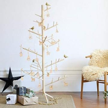 STOBOK 200 Stücke Weihnachtsbaum Anhänger Holzscheiben Christbaumanhänger Holz Streudeko Baumschmuck Christbaumschmuck Weihnachtsdeko zum Aufhängen (Stil gemischt) - 5