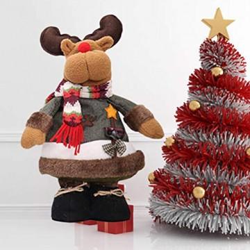 STOBOK Rentier Figuren Spielzeug Weihnachten Stoff Deko Figur Schaufenster Weihnachtsdeko stehender Rentier - 3