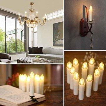 SZILBZ 40Stk Weihnachten LED Kerzen Lichterkette Weihnachtsbaumkerzen weihnachtskerzen Christbaumkerzen mit Fernbedienung Kabellos - 2