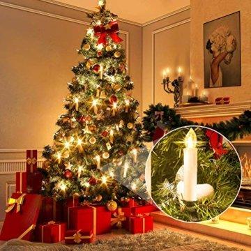 SZILBZ 40Stk Weihnachten LED Kerzen Lichterkette Weihnachtsbaumkerzen weihnachtskerzen Christbaumkerzen mit Fernbedienung Kabellos - 4