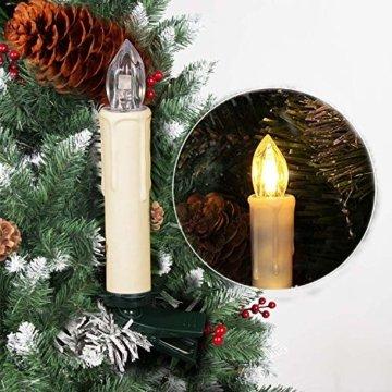 SZILBZ 40Stk Weihnachten LED Kerzen Lichterkette Weihnachtsbaumkerzen weihnachtskerzen Christbaumkerzen mit Fernbedienung Kabellos - 6