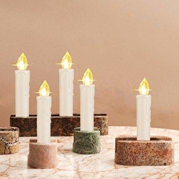 SZILBZ 40Stk Weihnachten LED Kerzen Lichterkette Weihnachtsbaumkerzen weihnachtskerzen Christbaumkerzen mit Fernbedienung Kabellos - 8