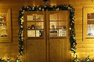 Tannengirlande 5 Meter grün mit 80 LED beleuchtet außen künstliche Tür-Girlande Weihnachten - 3