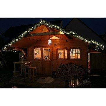 Tannengirlande 5 Meter grün mit 80 LED beleuchtet außen künstliche Tür-Girlande Weihnachten - 4