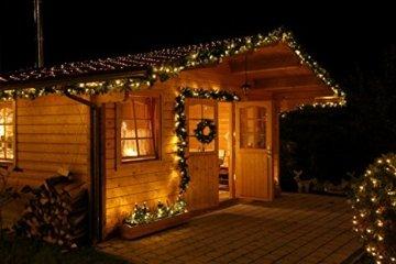 Tannengirlande 5 Meter grün mit 80 LED beleuchtet außen künstliche Tür-Girlande Weihnachten - 6