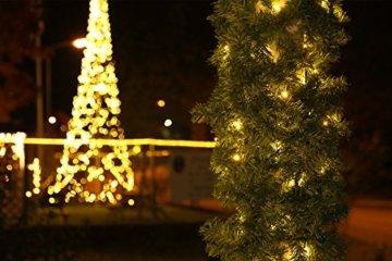 Tannengirlande grün 8,1 m mit 120 LED beleuchtet Weihnachtsbeleuchtung außen - 9