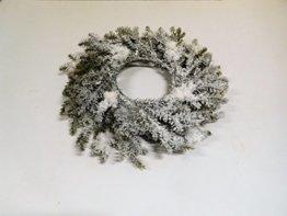 Tannenkranz Kranz Tanne Weihnachtskranz Adventskranz Schnee 46 cm 7232806 F39 - 1