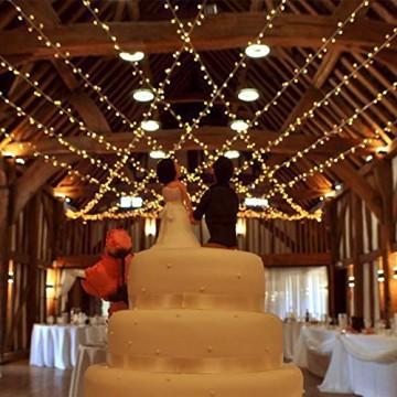 Tersely 20m 200er LED Lichterkette Weihnachten Kette Leuchte auf Transparent Kabel LED Lichter mit 8 Modi Innen und Außenbereich Lauflichter für Saal, Garten, Weihnachten, Hochzeit, Party-Warmweiß - 4