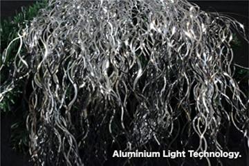 TK Gruppe Timo Klingler Silber Lametta - Stanniol Metal Technology - täuschend echt - als Deko Dekoration zu Weihnachten (Silber) - 2