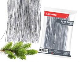 TK Gruppe Timo Klingler Silber Lametta - Stanniol Metal Technology - täuschend echt - als Deko Dekoration zu Weihnachten (Silber) - 1