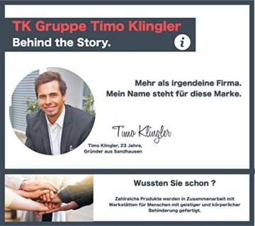 TK Gruppe Timo Klingler Silber Lametta - Stanniol Metal Technology - täuschend echt - als Deko Dekoration zu Weihnachten (Silber) - 4